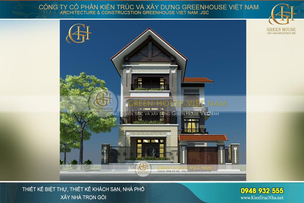 Mẫu biệt thự hiện đại kết hợp phong cách Á Đông đẹp duyên dáng, ấn tượng