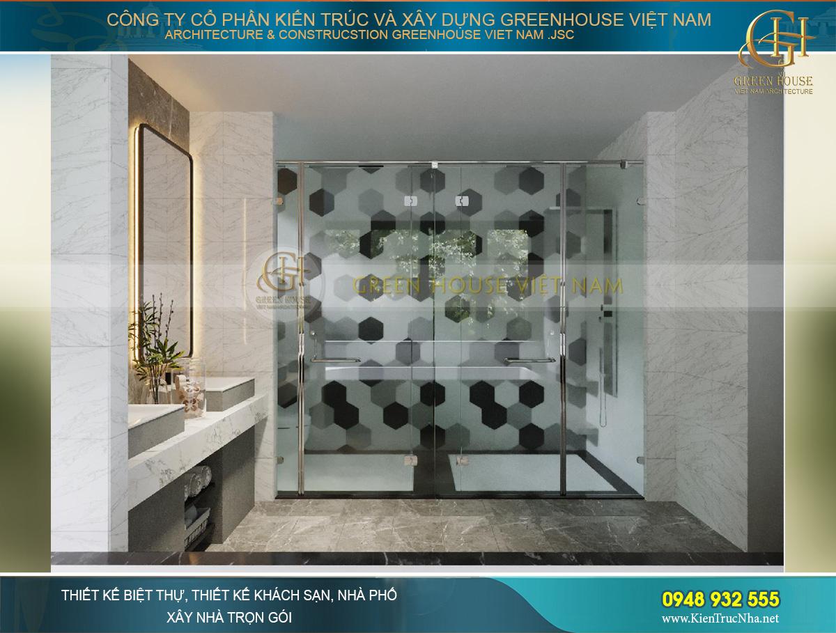 Thiết kế phòng tắm tươi sáng nhẹ nhàng giúp thư giãn dễ dàng hơn