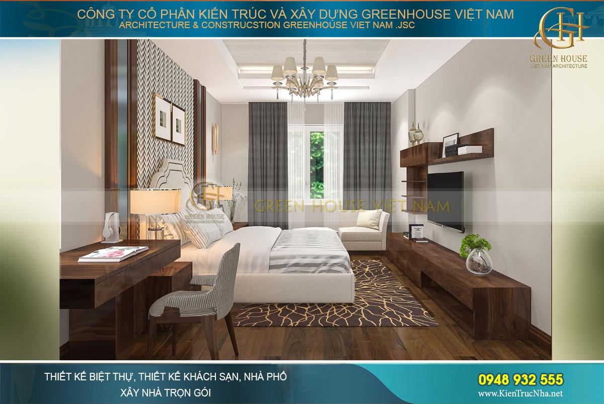 Phòng ngủ nhỏ nhắn, ấm cúng và đầy đủ mọi đồ nội thất cho sinh hoạt cá nhân