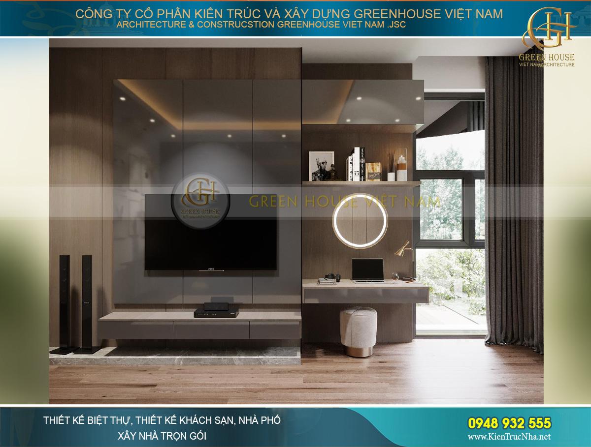 Thiết kế tủ TV, bàn trang điểm phong cách Scandivania hiện đại, đơn giản và tinh tế