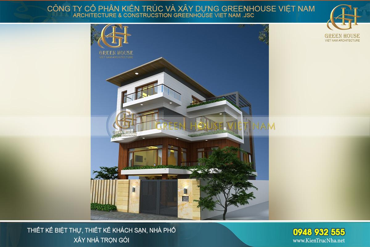 Thiết kế biệt thự 4 tầng hiện đại hình chữ L tại Bắc Giang với vẻ đẹp nổi bật, thu hút