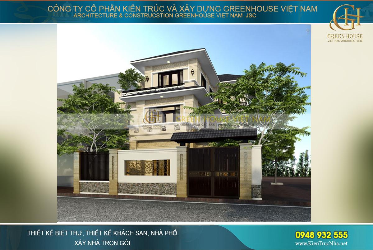 Mẫu thiết kế, cải tạo biệt thự 3 tầng hiện đại hình chữ L tại Hà Nội