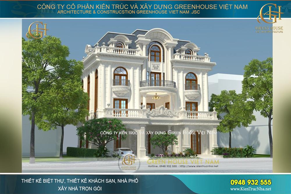 Vẻ đẹp lộng lẫy, tráng lệ của biệt thự tân cổ điển với phong cách thiết kế kiến trúc Pháp