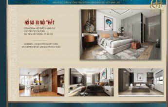 Thiết kế nội thất chung cư cao cấp hiện đại CĐT chị Toan tại Hà Nội