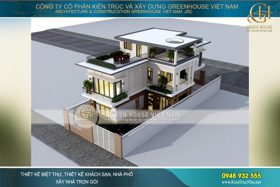 Biệt thự hiện đại 3 tầng tại Hà Nội sở hữu thiết kế kiến trúc độc đáo, sang trọng vô cùng