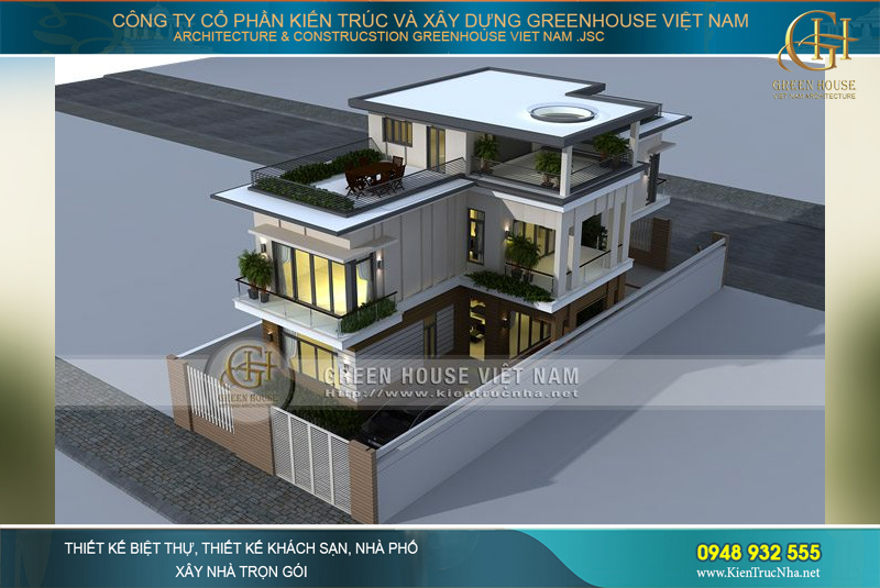Thiết kế sân thượng rộng rãi, cách bài trí đẹp mắt đem đến một không gian thư giãn lý tưởng cho cả gia đình