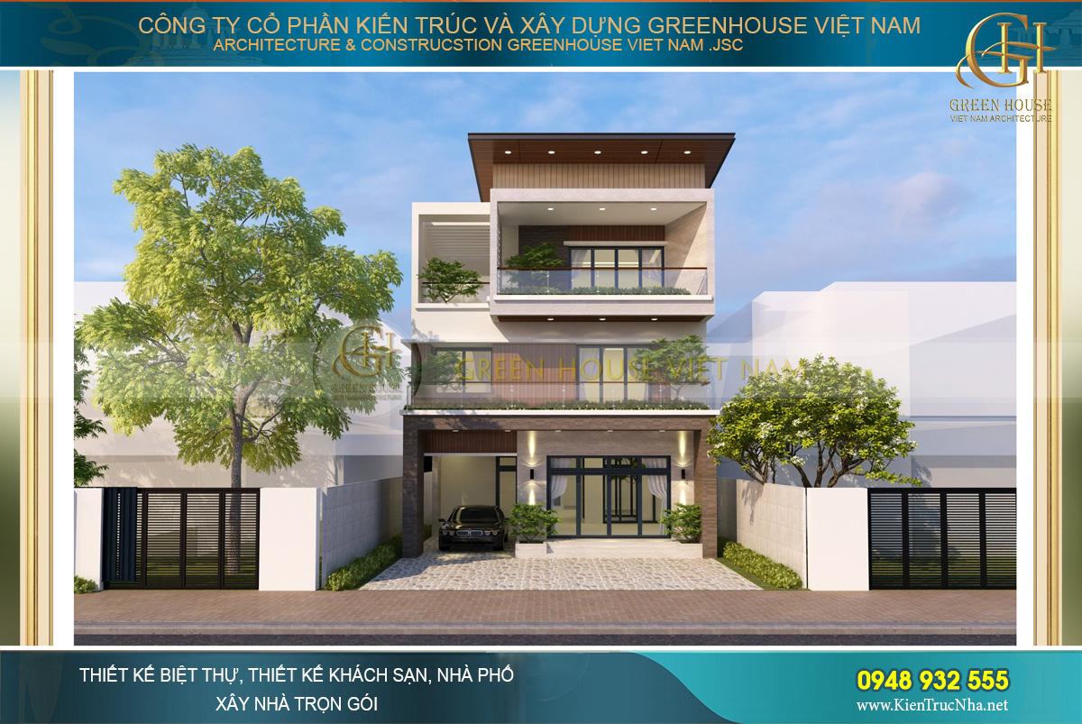 Dự án thiết kế biệt thự hiện đại 3 tầng độc đáo - CĐT Anh Tuấn