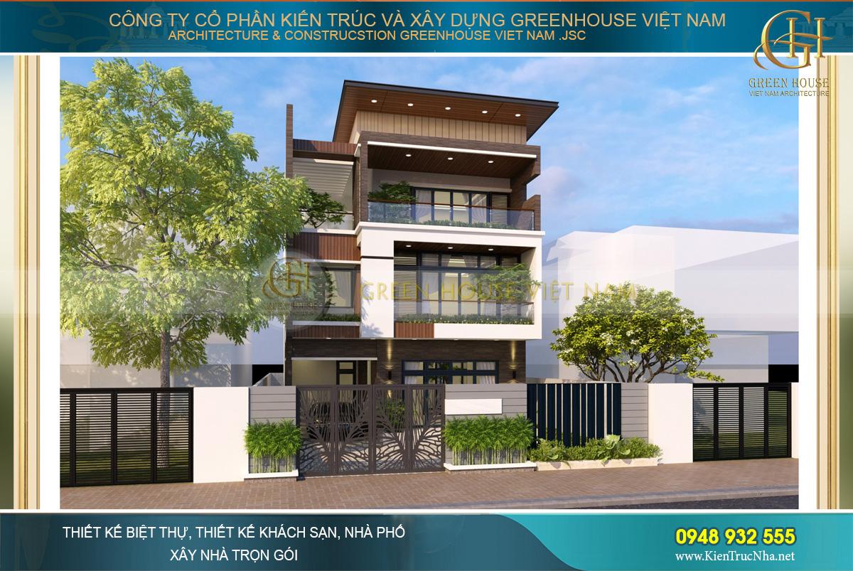 Kiến trúc 3 tầng đủ cho gia đình gia chủ có thể sinh hoạt thoải mái và đầy đủ không gian sống tiện ích