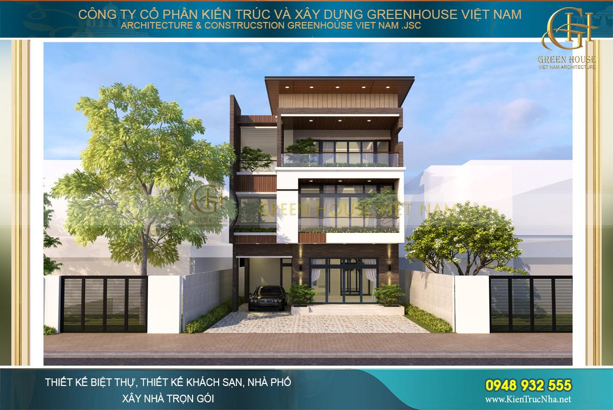 Thiết kế biệt thự hiện đại 3 tầng đẹp hợp xu hướng tại Bắc Giang