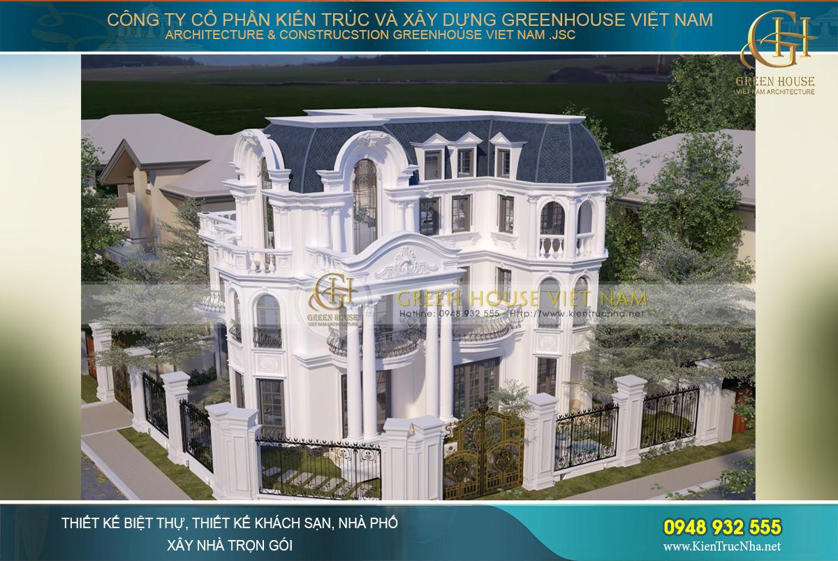 Mẫu biệt thự cổ điển 3 tầng này xứng đáng là một kiệt tác nghệ thuật kiến trúc