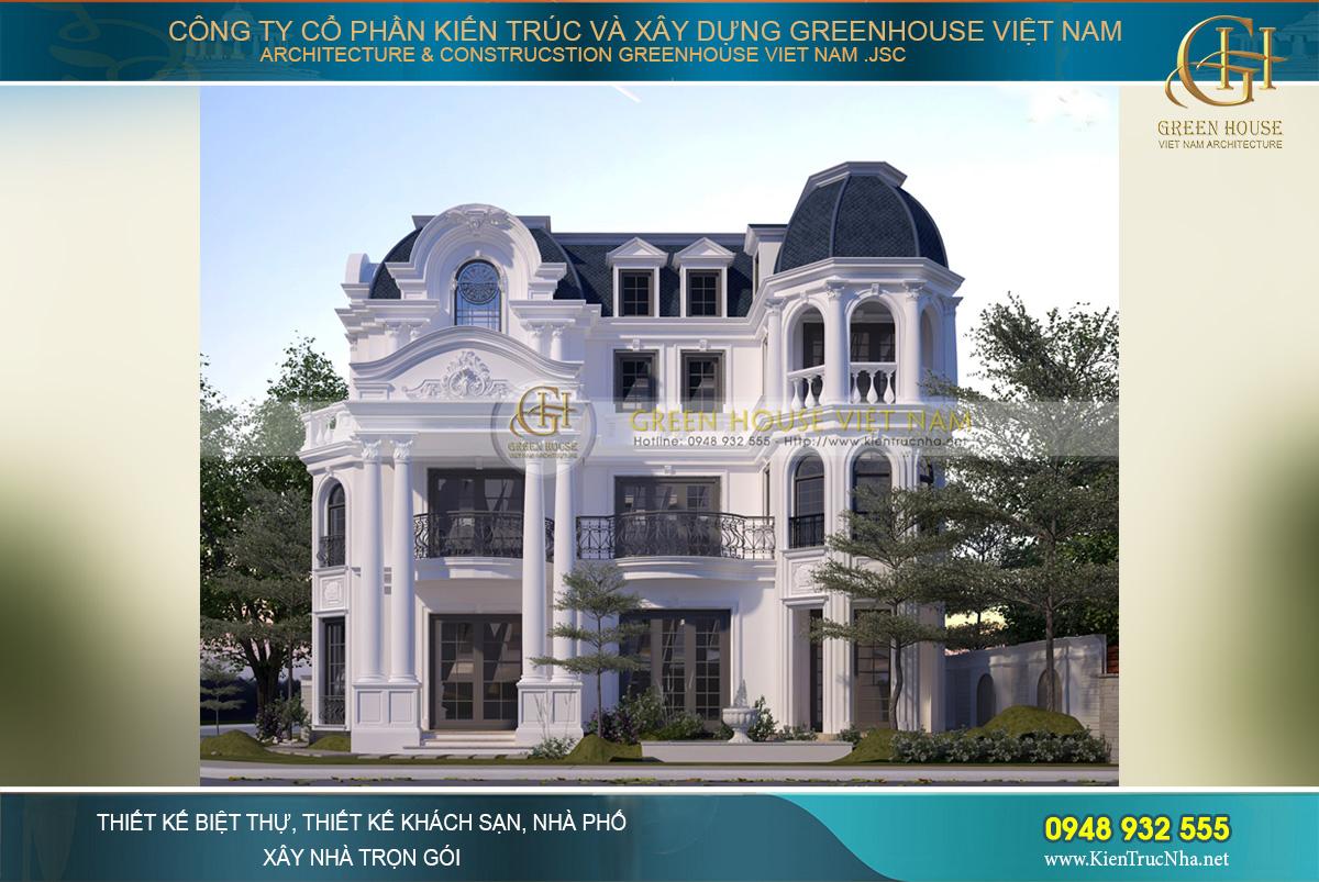 Đẳng cấp hoàng gia Pháp với các mẫu biệt thự mái mansard đẹp say đắm