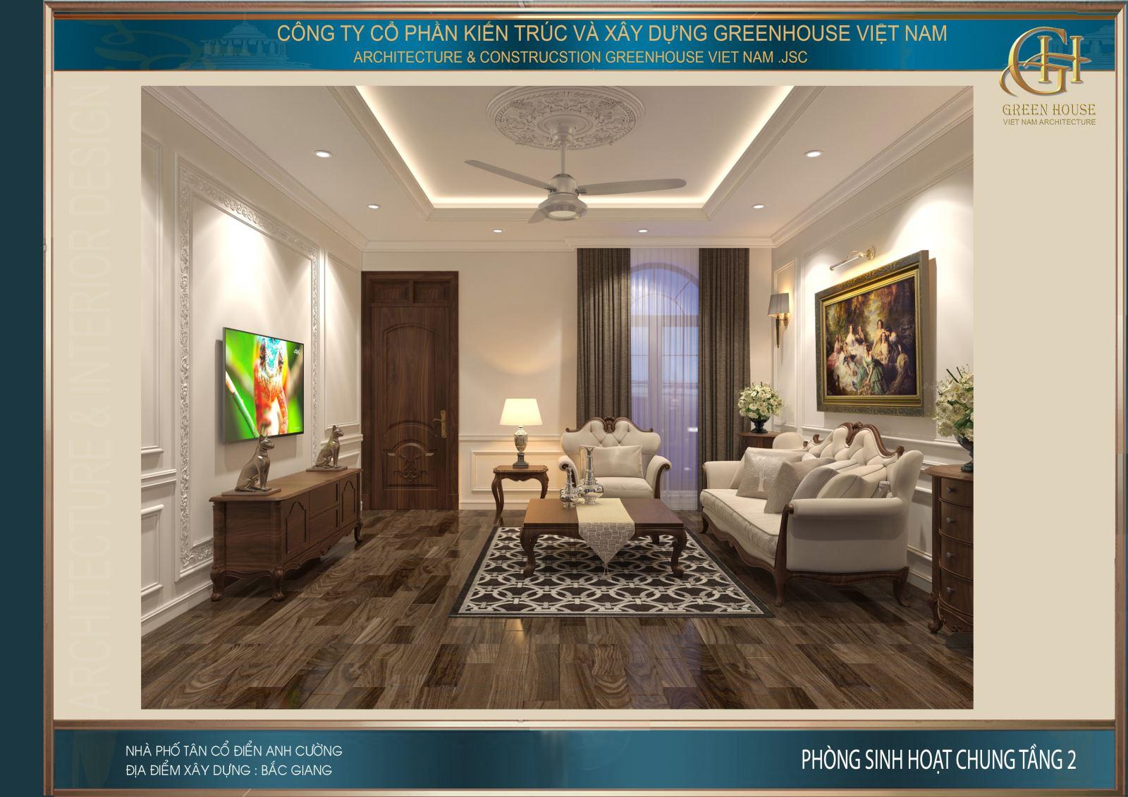 Thiết kế nội thất sàn gỗ sẫm màu mang đến vẻ đẹp sang trọng