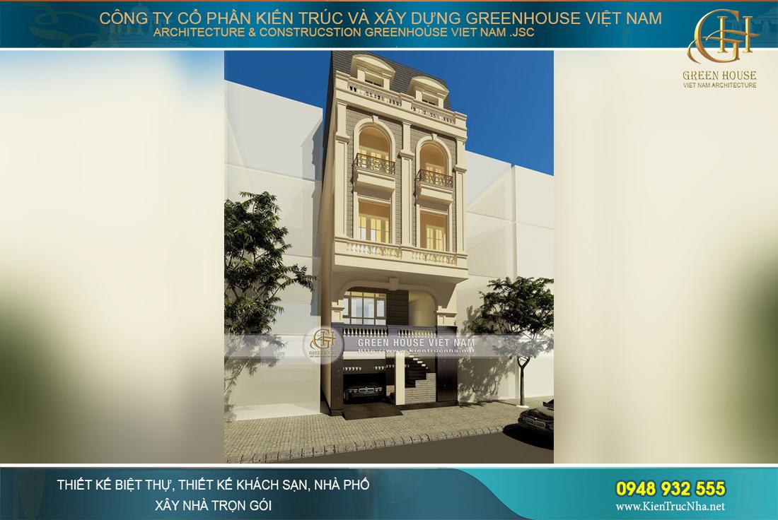 Kiến trúc sang trọng, quý phái của ngôi nhà phố tân cổ điển