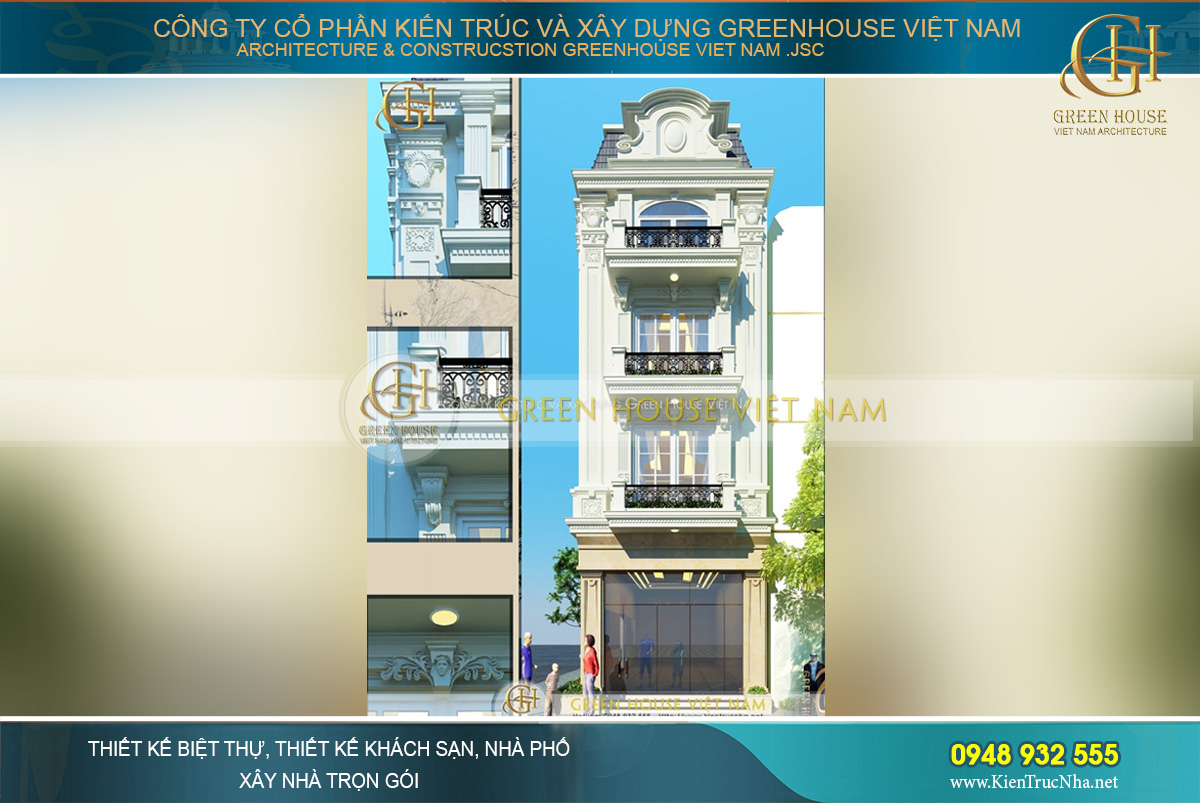 Từng họa tiết, hoa văn trang trí đều được KTS Green House Việt Nam tỉ mỉ thiết kế, tạo hình