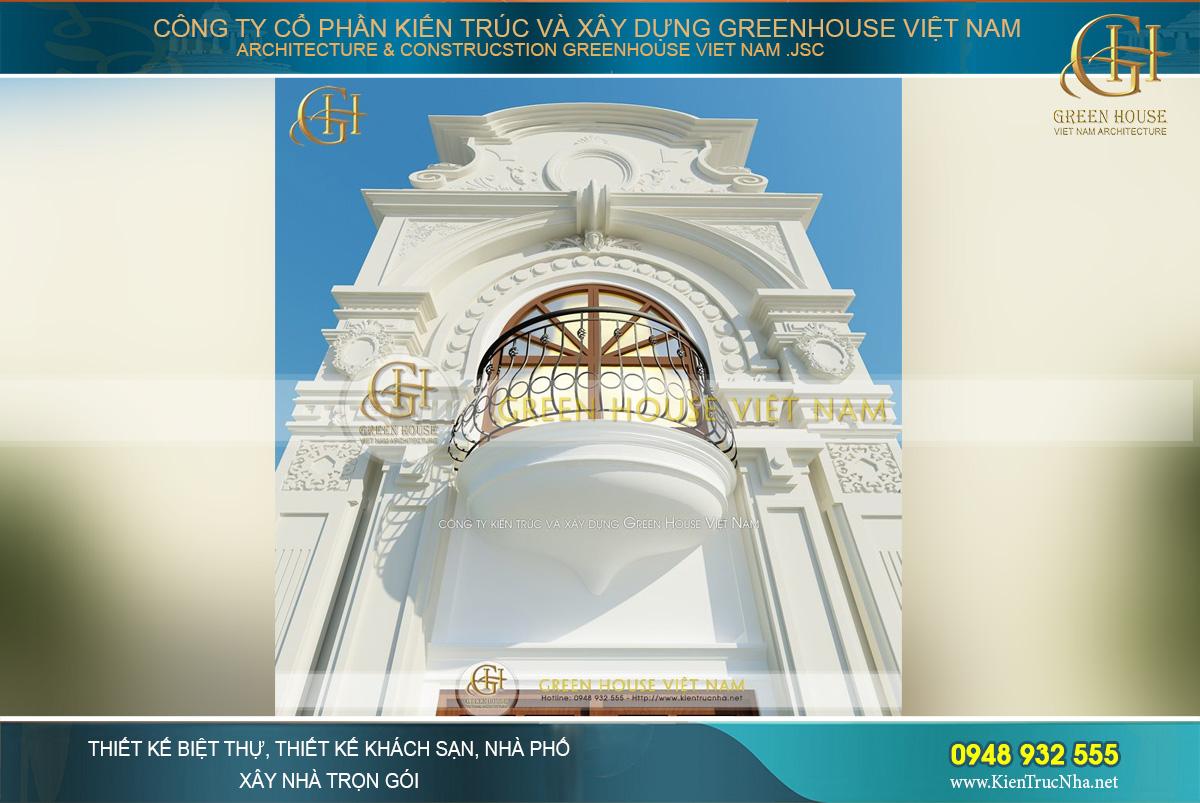 Kiến trúc tân cổ điển tinh xảo và sang trọng của ngôi nhà phố 4 tầng
