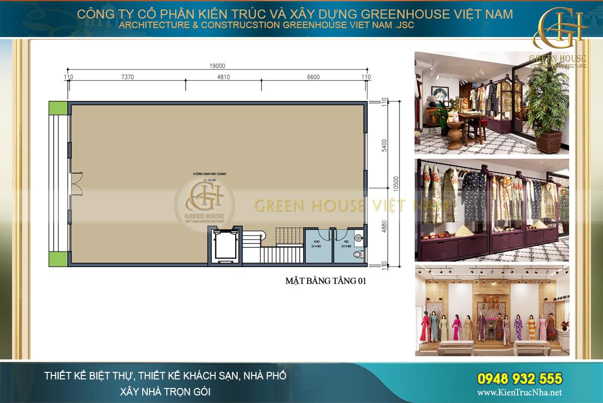 Thiết kế rộng rãi và thông thoáng, tạo sự thoải mái cho khách hàng ngay khi bước chân vào cửa hàng