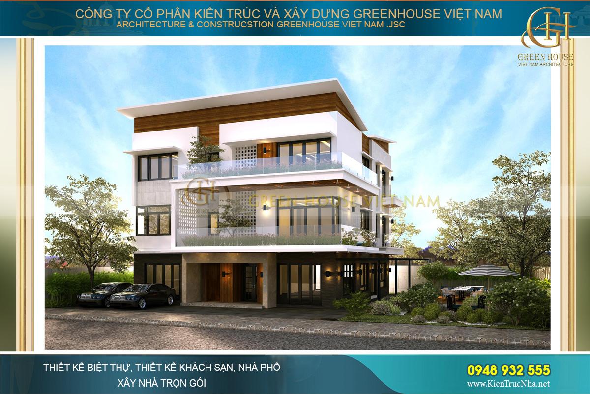 """Biệt thự 3 tầng không gian mở, kết hợp với các yếu tố""""xanh"""" cho ngôi nhà"""