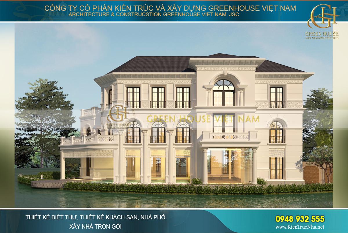 Kiến trúc bát giác độc đáo và thu hút mọi ánh nhìn với vòm cửa sổ cao vút nối liền tầng 1, tầng 2