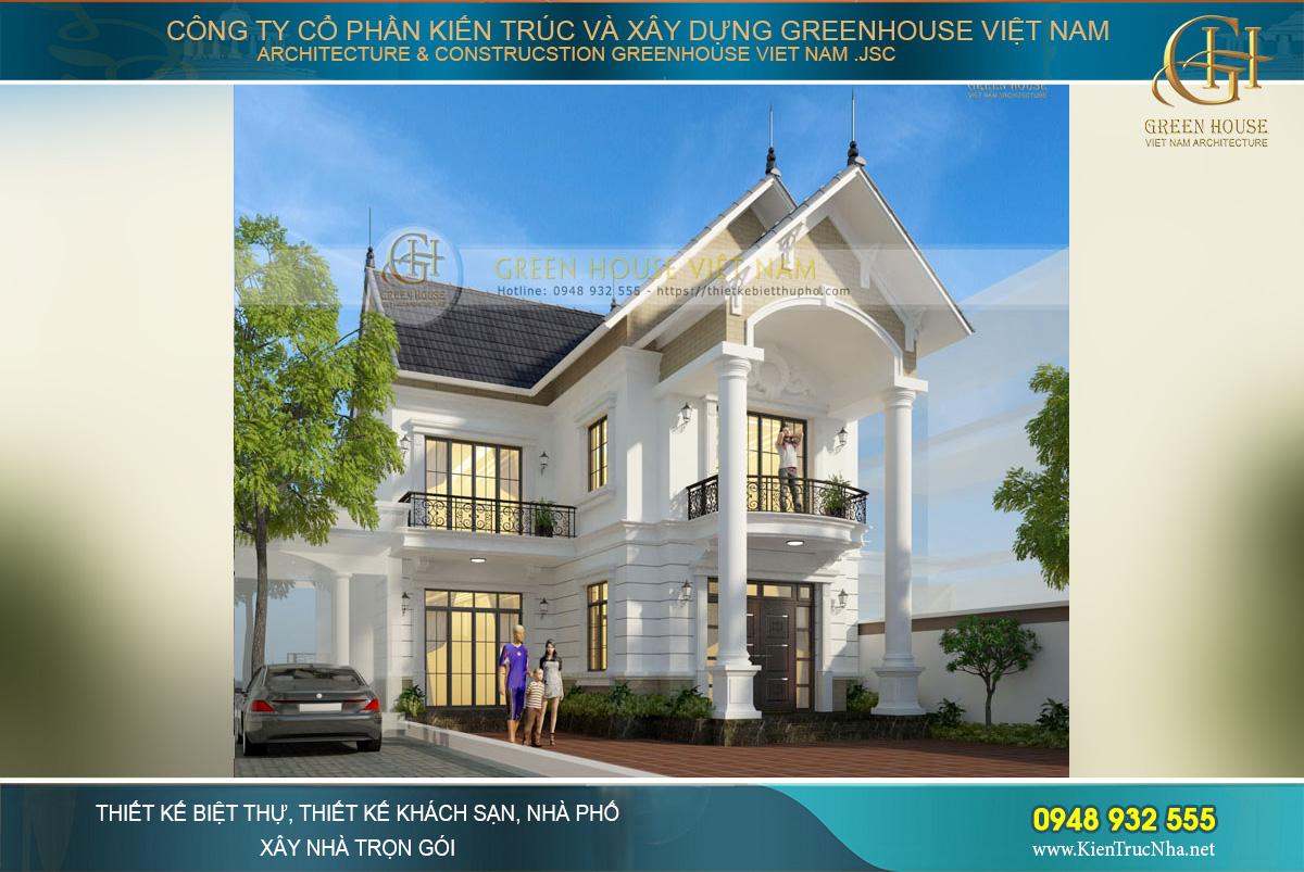 Gara oto được thiết kế nối liền với nhà ở nhưng cách một khoảng sân riêng