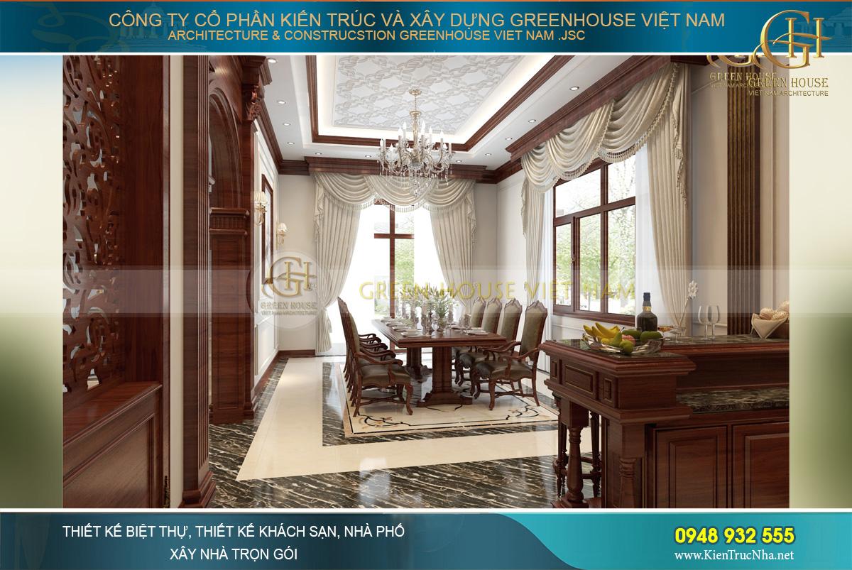 Thiết kế nội thất tân cổ điển - Biệt thự 3 tầng đẳng cấp tại Bắc Giang