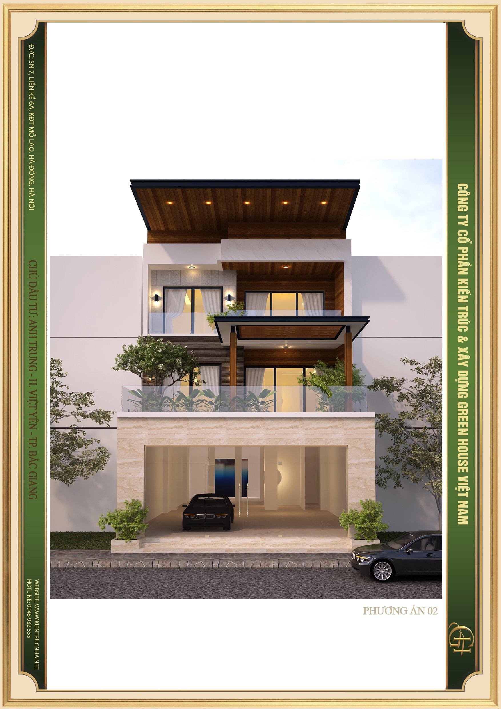 Đường nét thiết kế kiến trúc vuông vắn, thể hiện hoàn chỉnh phong cách kiến trúc hiện đại