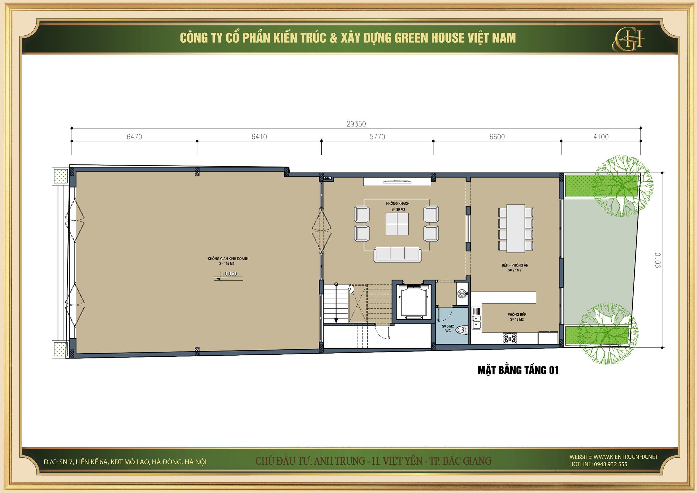 Chủ đầu tư muốn kết hợp kinh doanh tại không gian sống của gia đình mình tại tầng 1