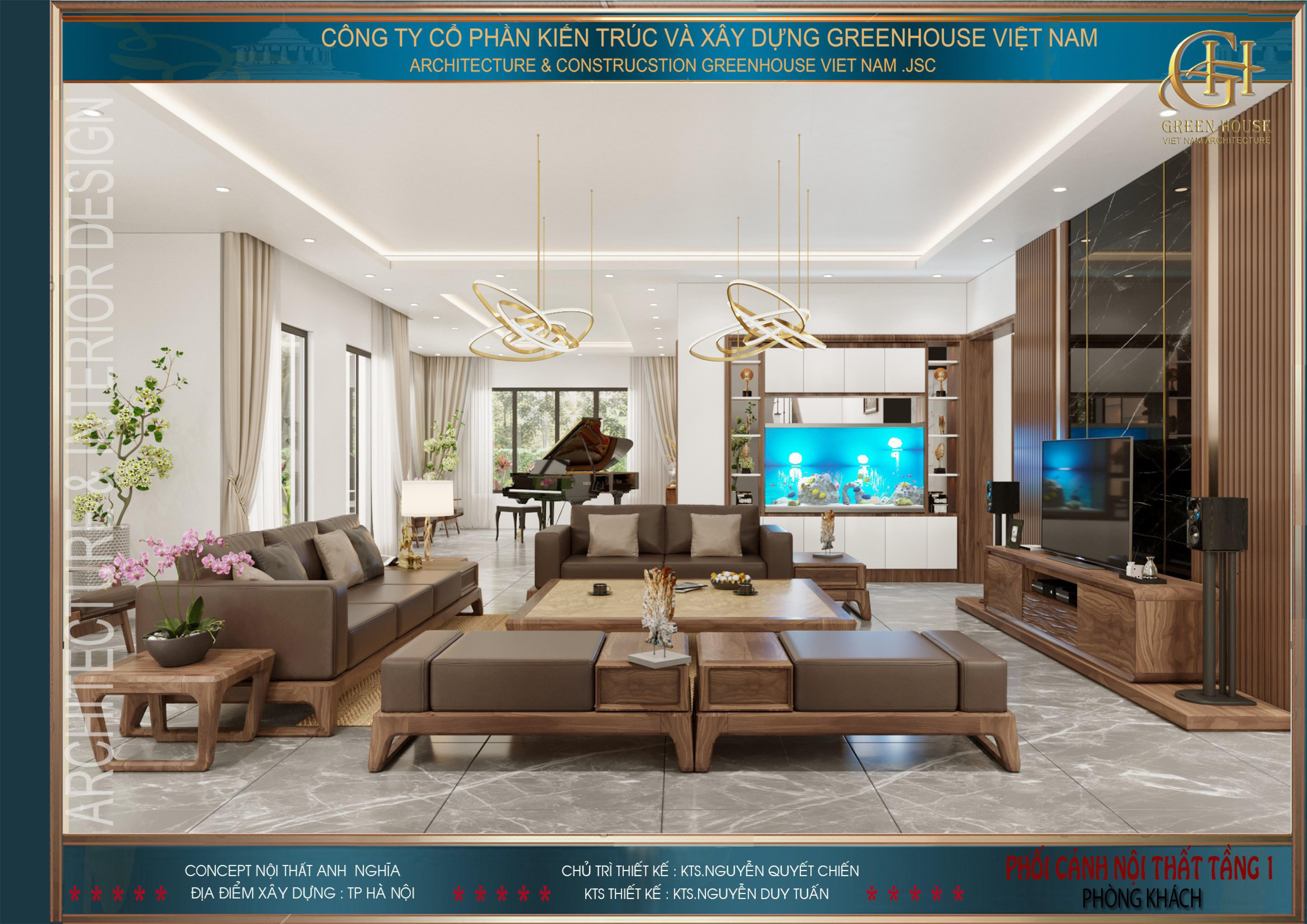 Sở hữu gu thẩm mỹ tinh tường, không gian phòng khách này được KTS sắp xếp và bày trí vật dụng ngăn nắp, đẹp mắt khiến ai dừng chân cũng đều khen ngợi.