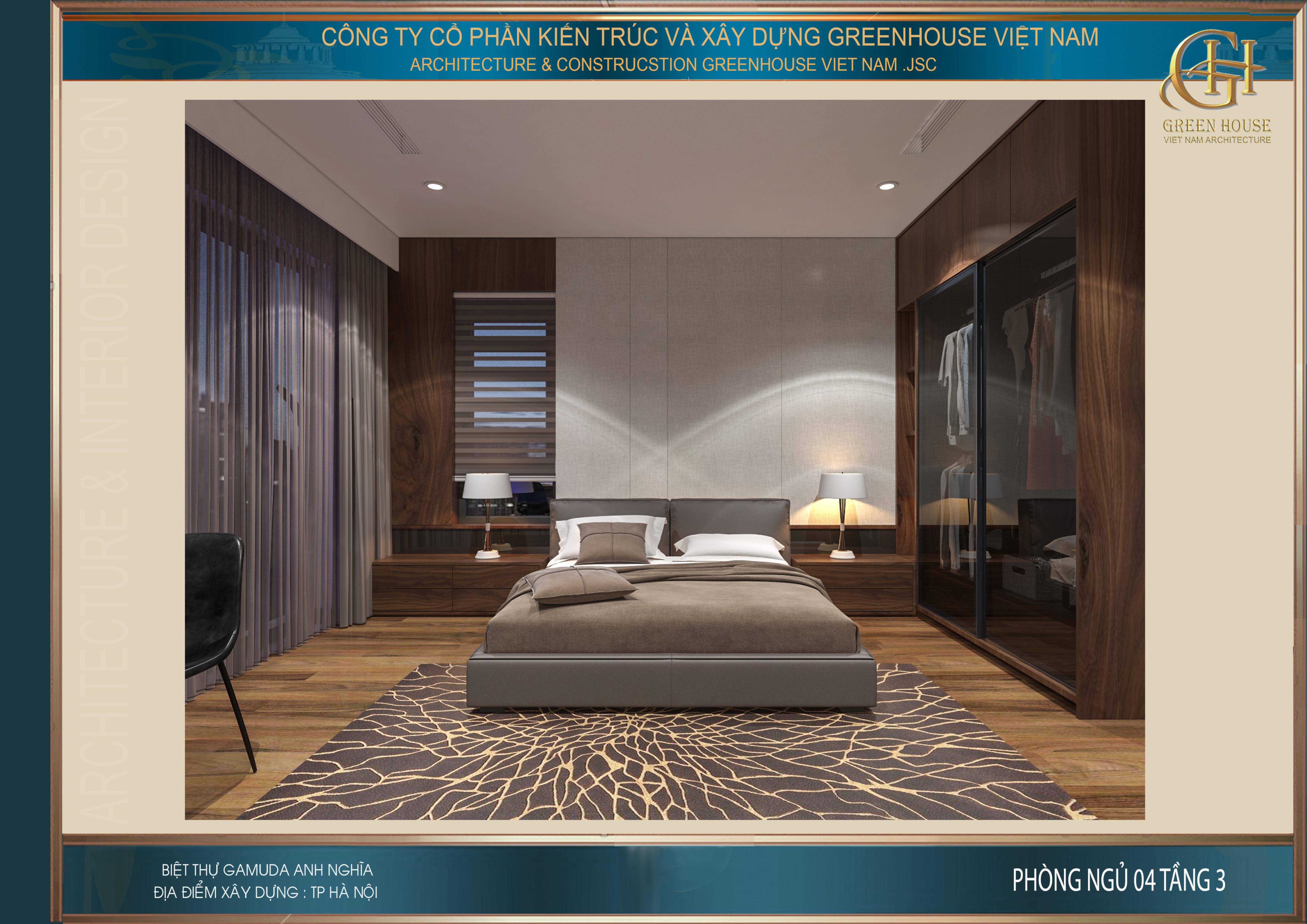 Phòng ngủ với thiết kế lịch lãm và đầy kiêu hãnh