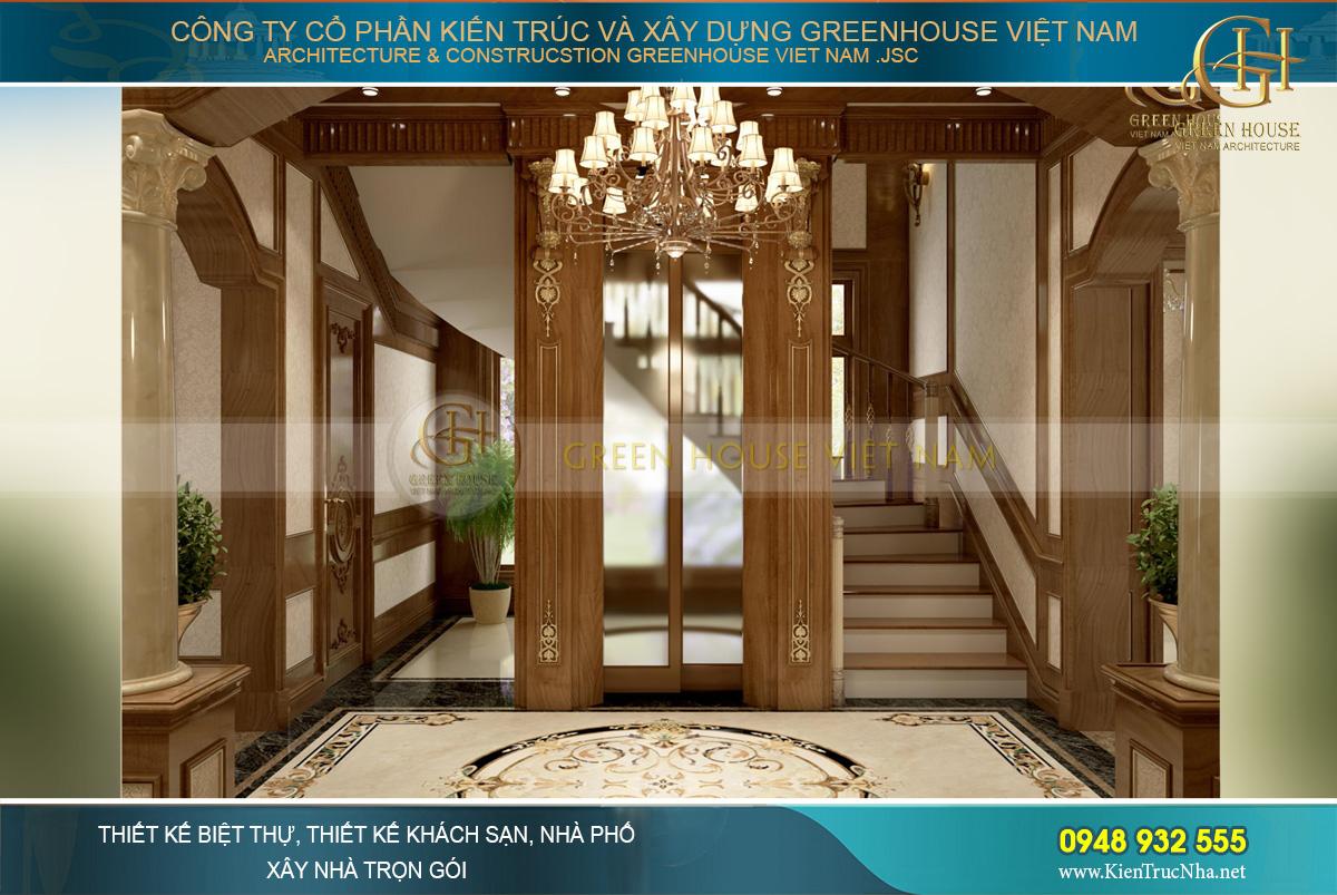 Hệ thống cầu thang bằng gỗ mang đến sự sang trọng