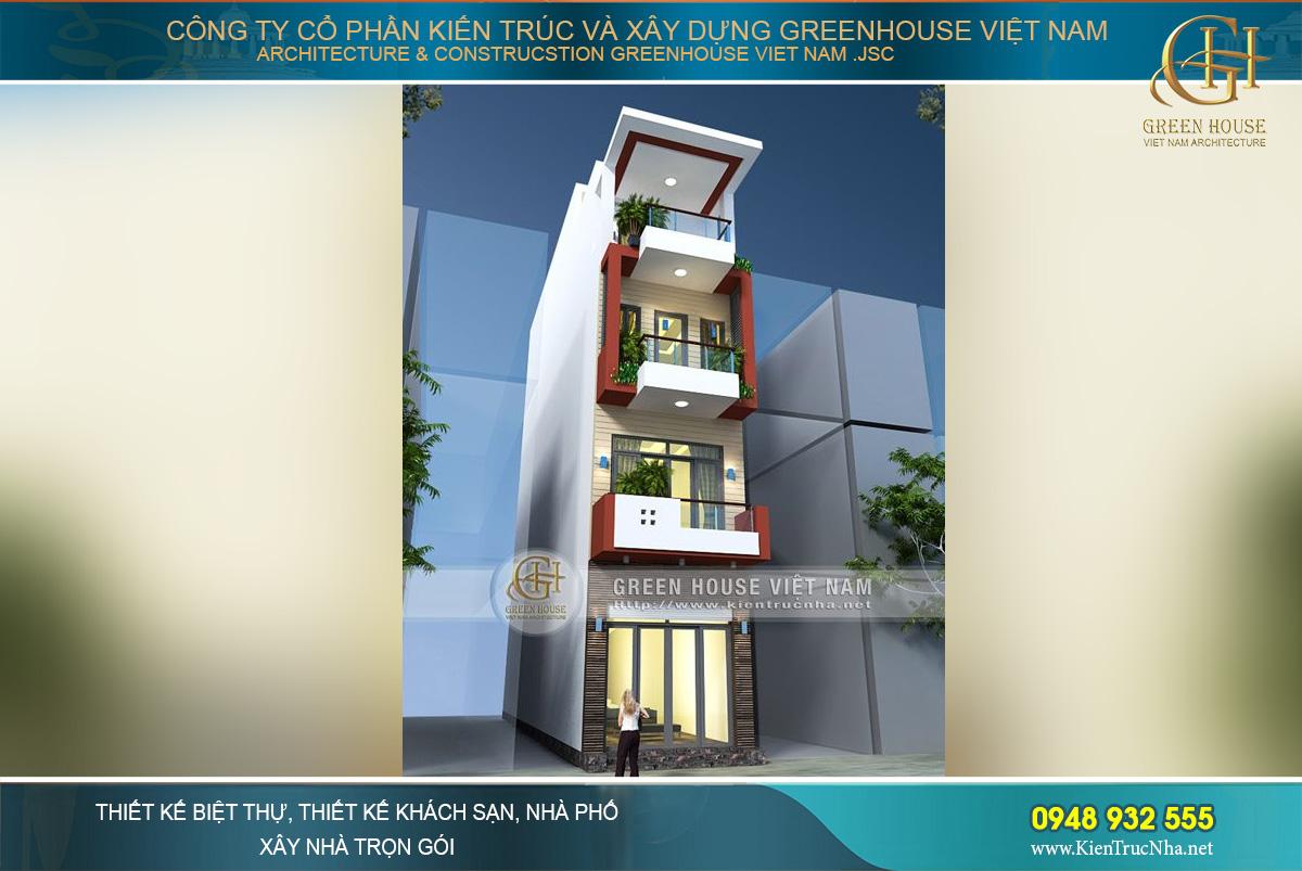 Thi công trọn gói nhà ống hiện đại 4 tầng đẹp thời thượng tại Bắc Ninh