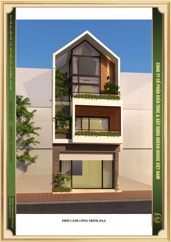 Thiết kế nhà phố 4 tầng hiện đại sáng tạo, độc đáo