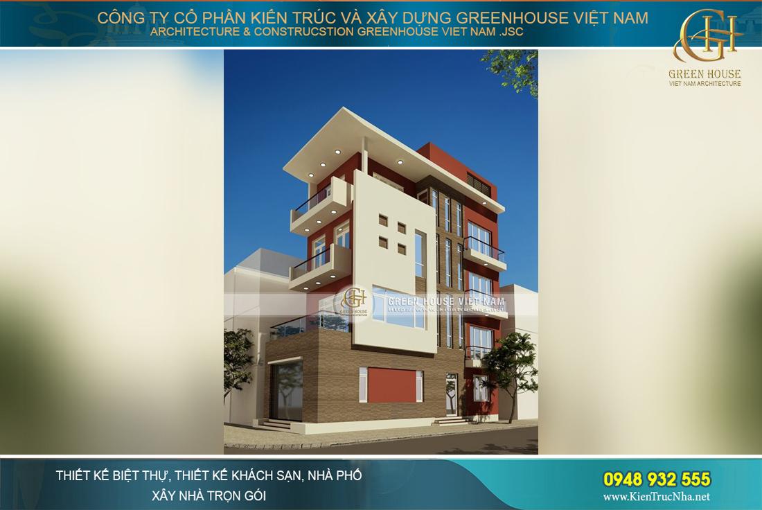 Nhà phố 4 tầng diện tích 90m2 tại Quảng Ninh đốn tim bao gia chủ