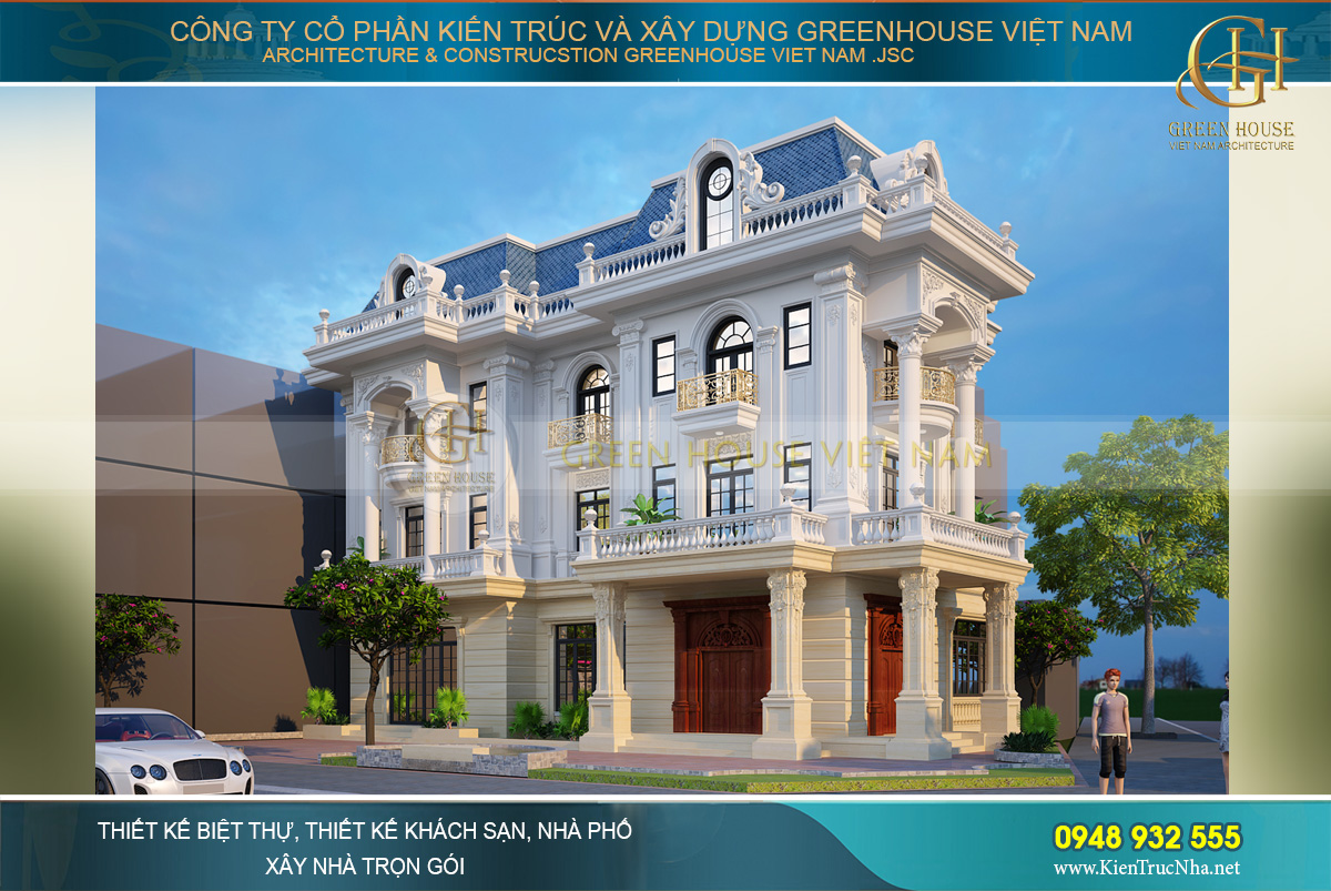 Biệt thự tân cổ điển tại Quảng Ninh sở hữu thiết kế 2 mặt tiền