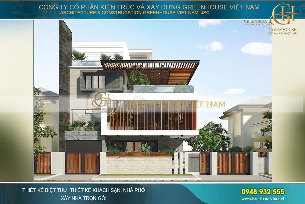 Mẫu thiết kế biệt thự 4 tầng phong cách hiện đại đẹp độc đáo, thu hút của GreenHouse Việt Nam