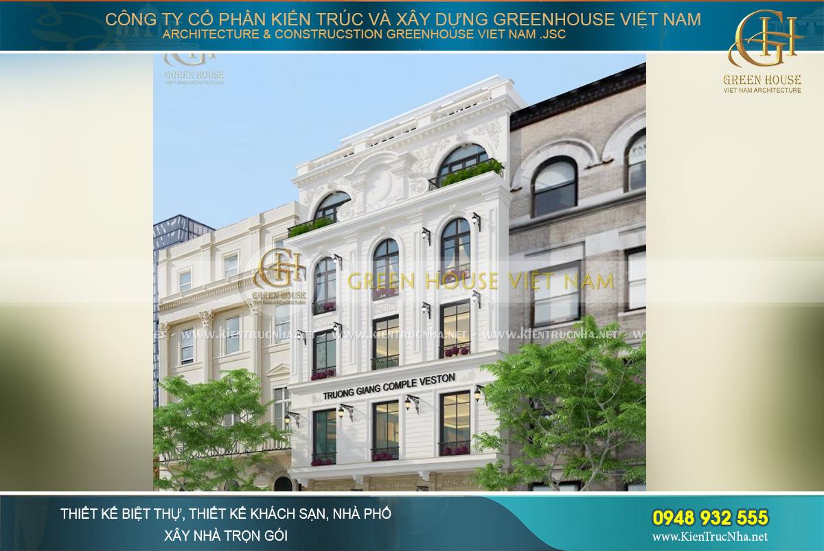 Thiết kế nhà tân cổ điển đẹp và nổi bật so với các kiến trúc xung quanh