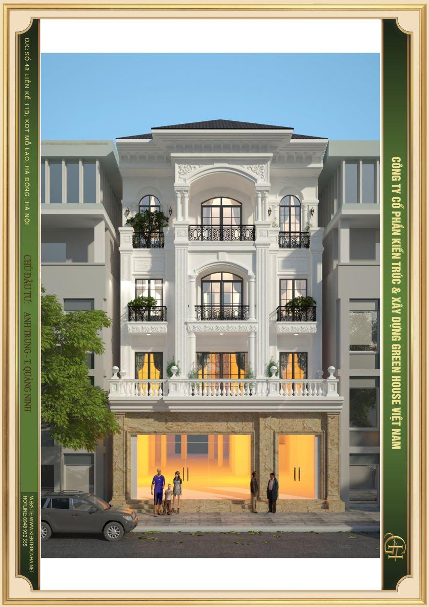 Từ tầng 2 được thiết kế đăng đối khiến tổng thể công trình trở nên bề thế và đẹp mắt