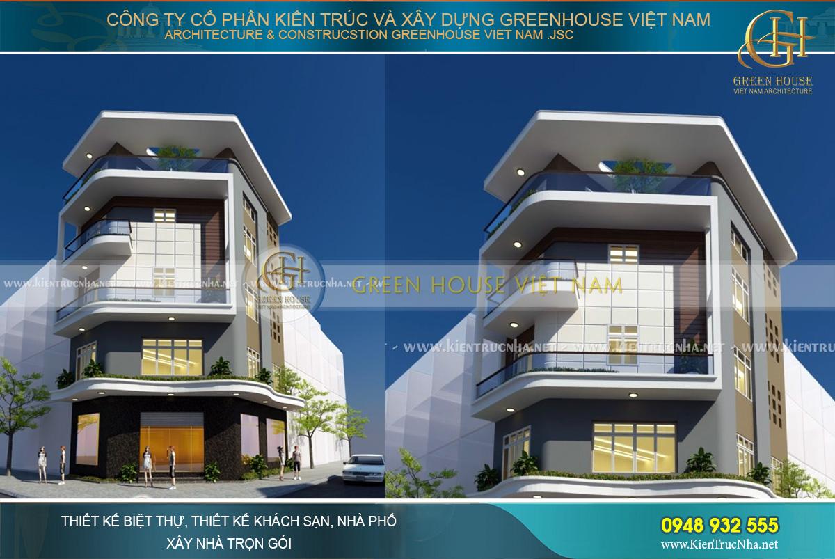 Kiến trúc hiện đại, sự bề thế của công trình nhà phố 5 tầng hoàn toàn lôi cuốn mọi ánh nhìn