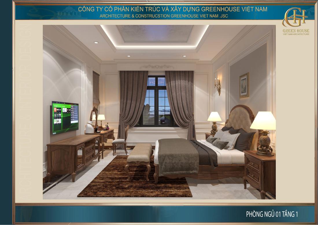 Toàn cảnh không gian phòng ngủ tại tầng 1
