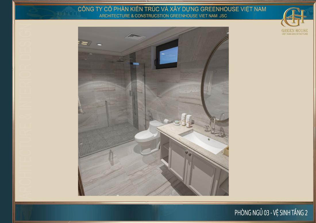 Phòng vệ sinh riêng của phòng ngủ tại tầng 2