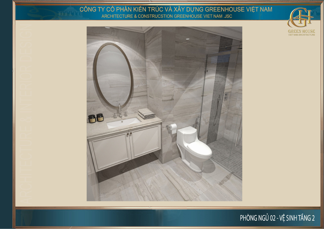 Thiết kế phòng vệ sinh của phòng ngủ số 2
