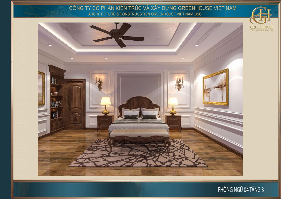 Thiết kế phòng ngủ số 4 trên tầng 3
