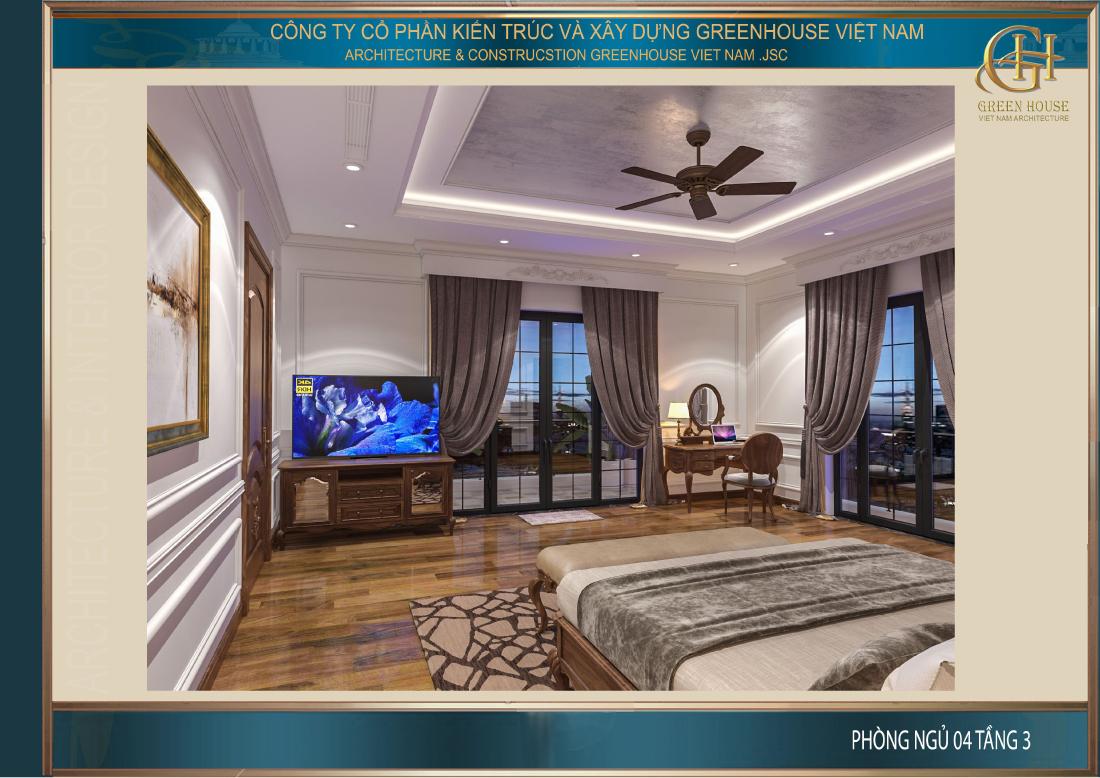 Phòng ngủ được thiết kế lịch lãm và đầy kiểu hãnh