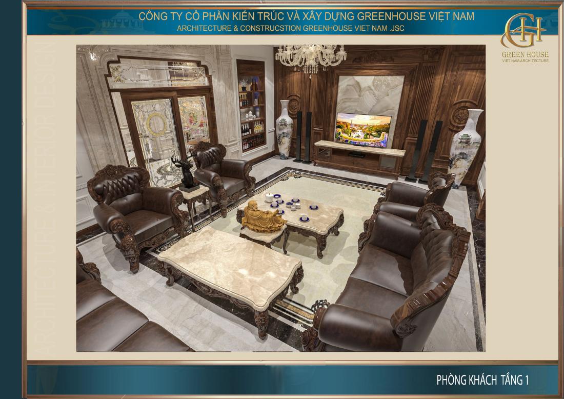 Toàn cảnh không gian phòng khách mang đến vẻ đẹp khó tin