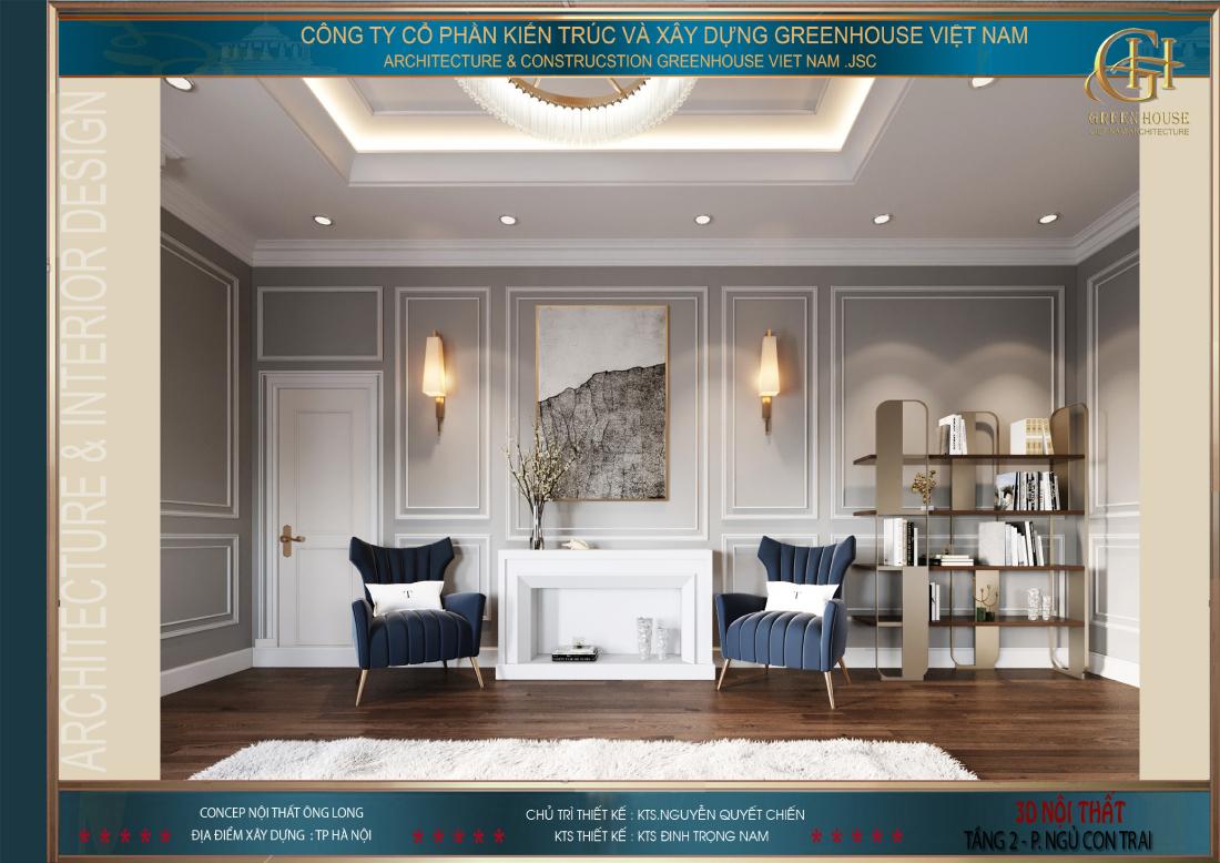 Những khoảng trống trong phòng cũng được tỉ mỉ bài bố nội thất, tận dụng mọi không gian