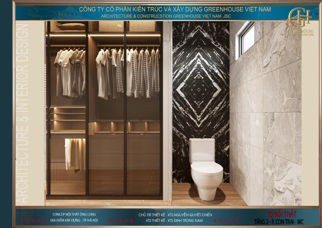 Khu vực phòng vệ sinh riêng của phòng ngủ