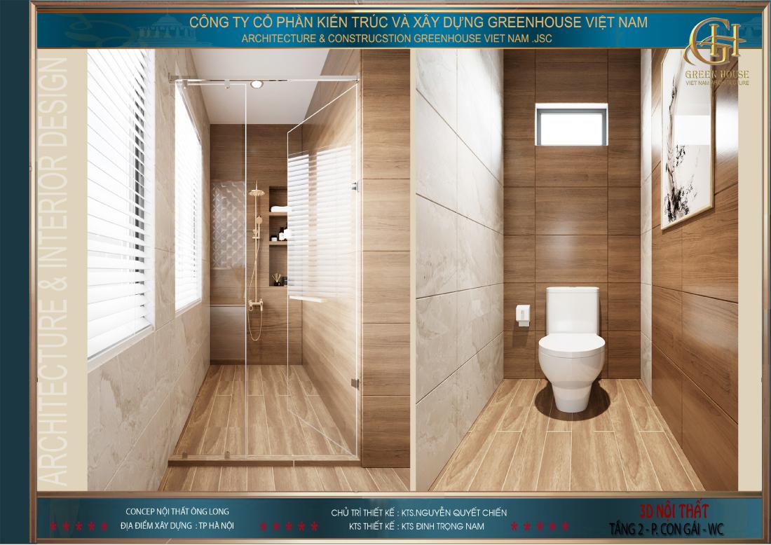 Thiết kế phòng vệ sinh hiện đại và sang trọng