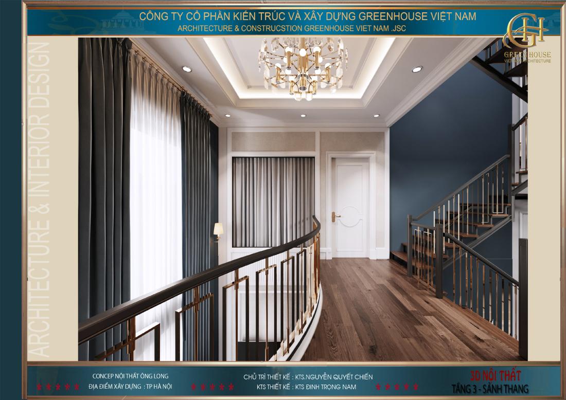 Khu vực sảnh tầng dẫn vào phòng ngủ master