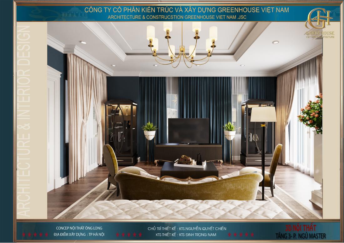Khu vực tiếp khách của phòng ngủ master