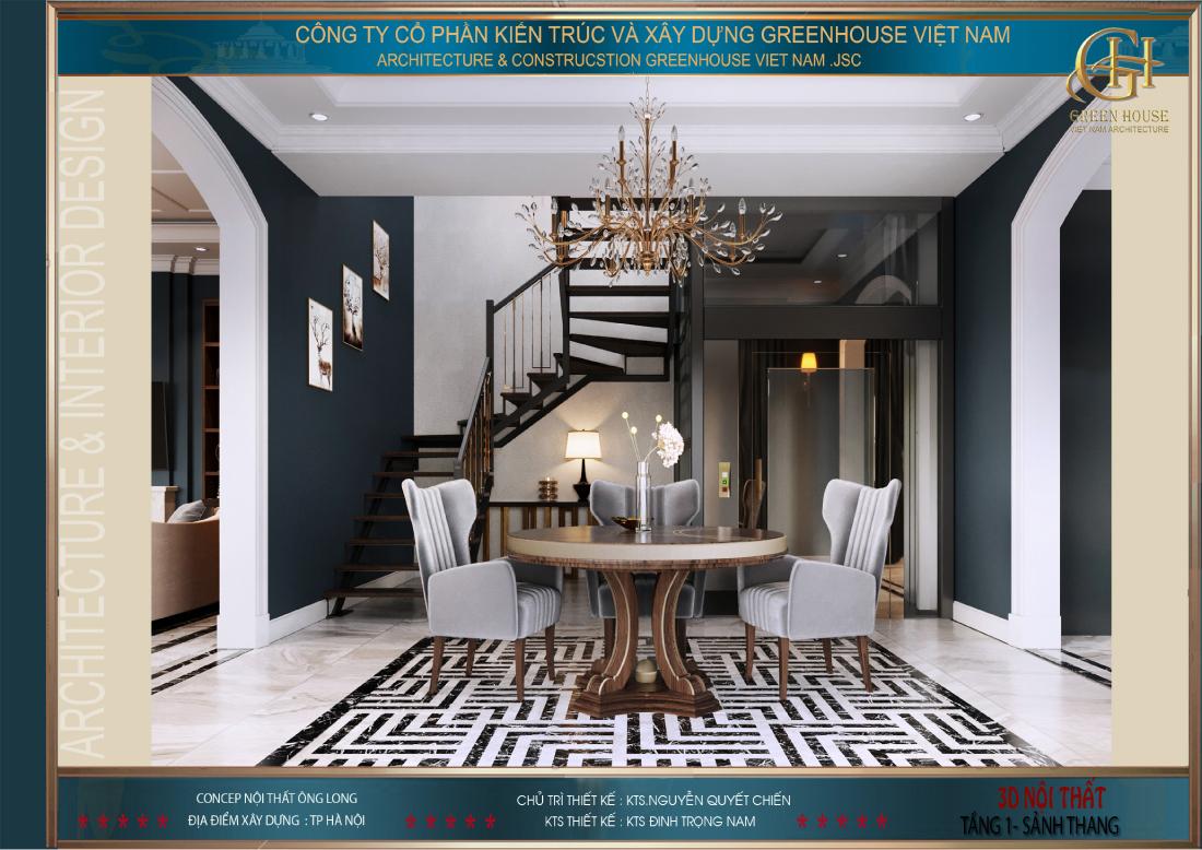 Thiết kế thang máy kính vừa mang đến sự tiện lợi vừa làm tôn lên vẻ đẹp của căn biệt thự