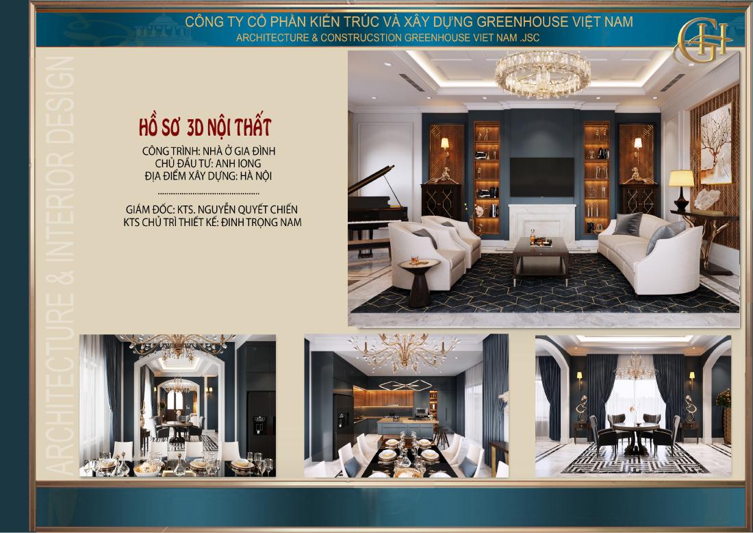 Thiết kế nội thất biệt thự Vinhomes 4 tầng tại Hà Nội - CĐT Anh Long